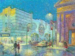 Snowy Leavenworth-12x16 Print On Canvas