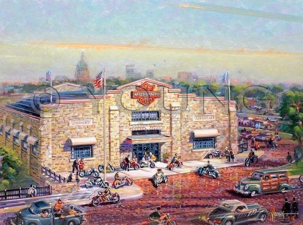 Harley Davidson Topeka-18x24 Print On Canvas