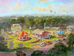 Kiddieland 2-12x16 Print On Canvas