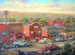 Old West Lansing-12x16 Print On Canvas