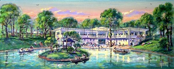 Shriner's Pavilion-10x24 Print On Canvas