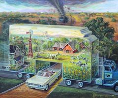 Back In Kansas-20x24 Print On Canvas
