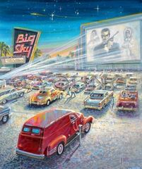 Behren's Big Sky-24x20 Print On Canvas