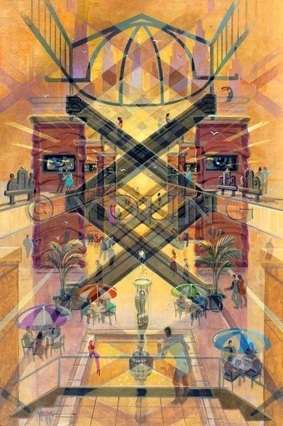 X Marks The Spot-36x24 Print On Fine Art Paper