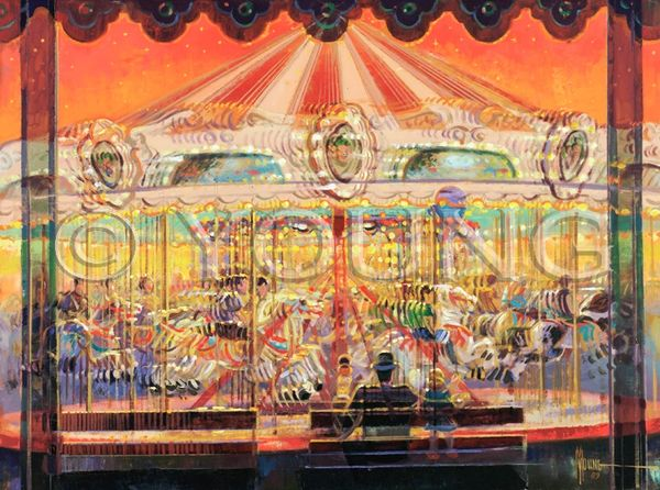 Merry Go Round-30x40 Print On Canvas