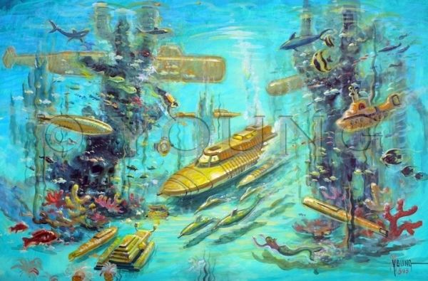 Yellow Submarines-16x24 Print On Matte Paper