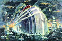Noah's Titanic-20x30 Print On Canvas