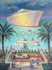 Plane Or Boat-40x30 Print On Canvas
