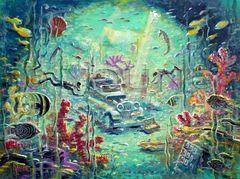 Scuba Adventure-18x24 Print On Canvas