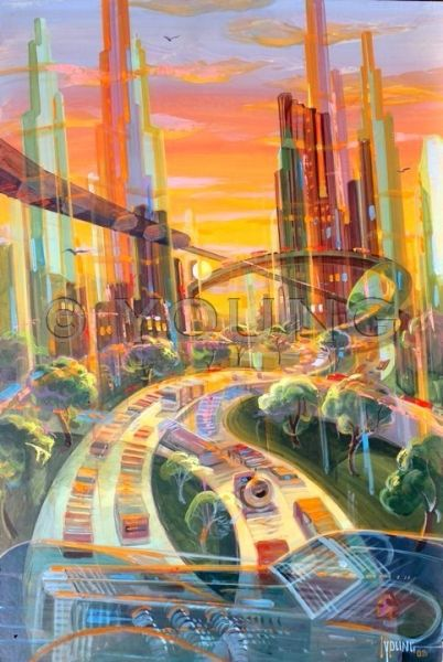 Transparent City-24x16 Print On Matte Paper