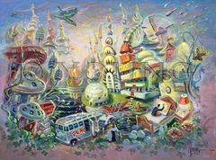 Architect's Hallucination-30x40 Print On Canvas