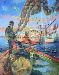 Sponge Boys-20x16 Print On Canvas