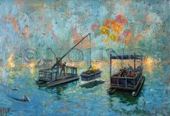 Burial At Sea-Original Painting