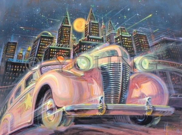Calling All Cars-30x40 Print On Fine Art Paper