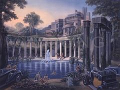 Swimming In The Columns-24x30 Print On Fine Art Paper