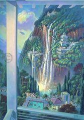 Waterfalls Through Rainbows-30x22 Print On Canvas