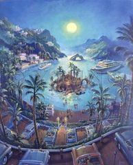 Island Parking-30x24 Print On Canvas
