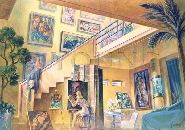 Tamara's Studio-18x24 Print On Matte Paper