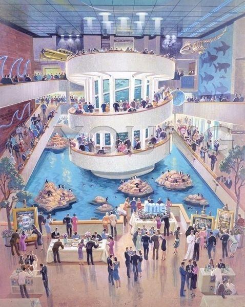 Boston Aquarium-30x24 Print On Canvas