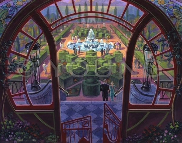 Garden Party-22x28 Print On Canvas