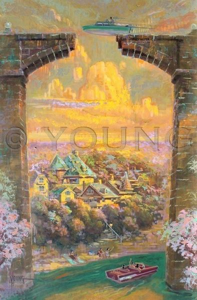 Topsy Turvy-36x24 Print On Canvas
