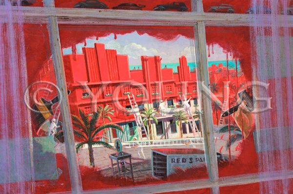 Painting The Town Red-24x36 Print On Canvas