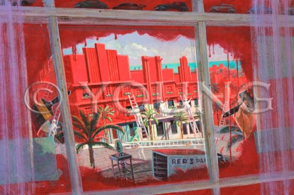 Painting The Town Red-24x36 Print On Fine Art Paper