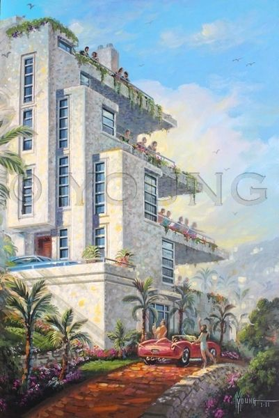 Overlook Towers-36x24 Print On Fine Art Paper