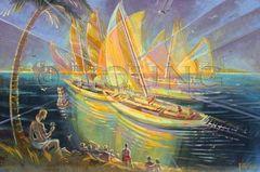 Sail Race-24x36 Print On Canvas