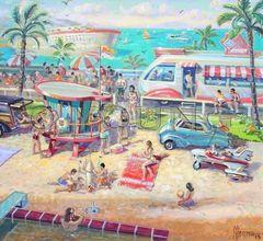Beach Bash-20x22 Print On Canvas