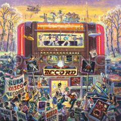 Record Shop 24x24 Print On Canvas