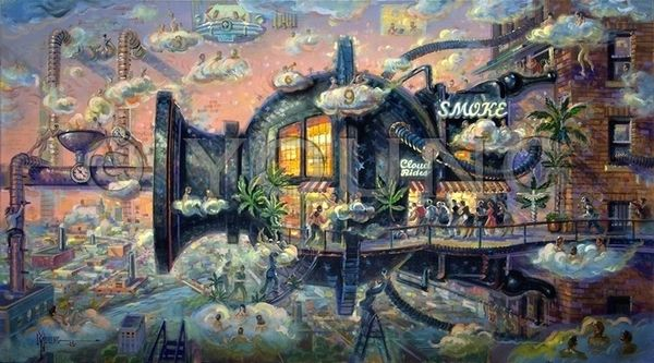 Smoke Shop-Original Painting