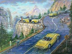 View From The Vette-24x32 Print On Fine Art Paper