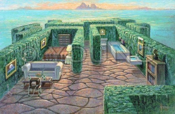 House Maze-24x36 Print On Canvas