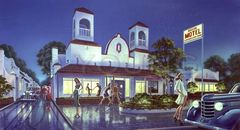 Mission Motel-14x24 Print On Matte Paper