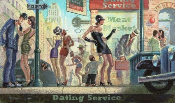 Dating Service-18x30 Print On Canvas