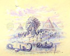 Origin Of Tribes-24x30 Print On Fine Art Paper