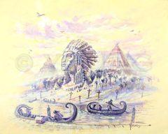 Origin Of Tribes-24x30 Print On Canvas