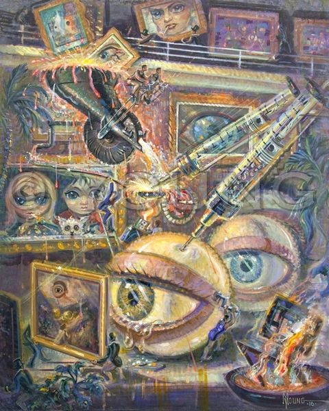 Eye Of The Beholder-40x32 Print On Canvas
