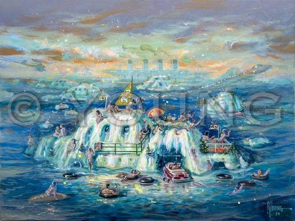 Polar Bear League-30x40 Print On Canvas