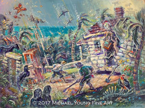 The Big Rain-14x18 Print On Matte Paper