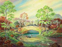 Water Under The Bridge-30x36 Print On Canvas