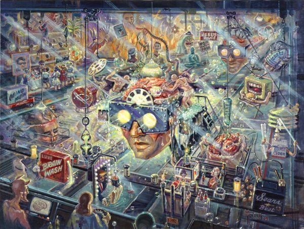 Brainwashing-30x40 Print On Canvas
