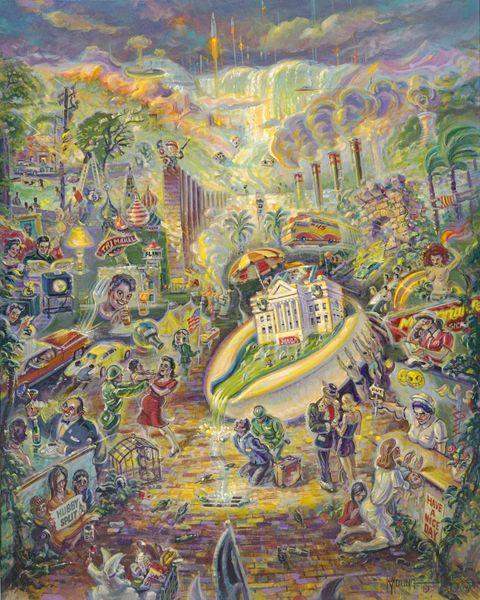 Draining The Swamp-40x32 Print On Fine Art Paper