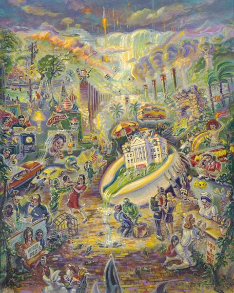 Draining The Swamp-40x32 Print On Canvas