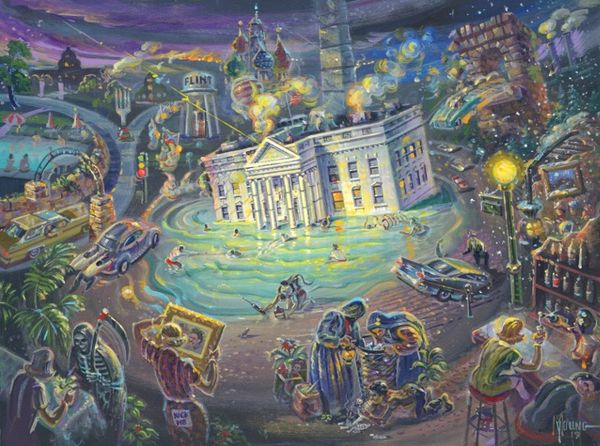 Sinking Of The Whitehouse-30x40 Print On Canvas