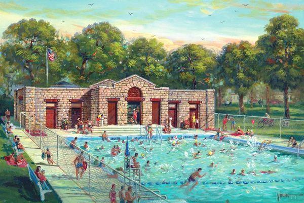 Woolman Pool-24x36 Print On Canvas