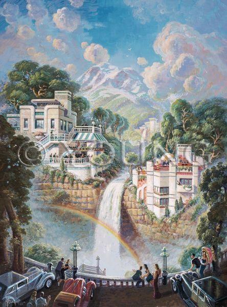 Fabulous Falls-24x18 Print On Matte Paper