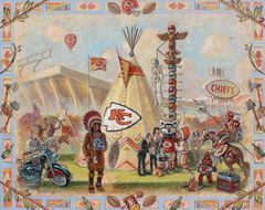 Home Of The Chiefs-20x24 Print On Matte Paper
