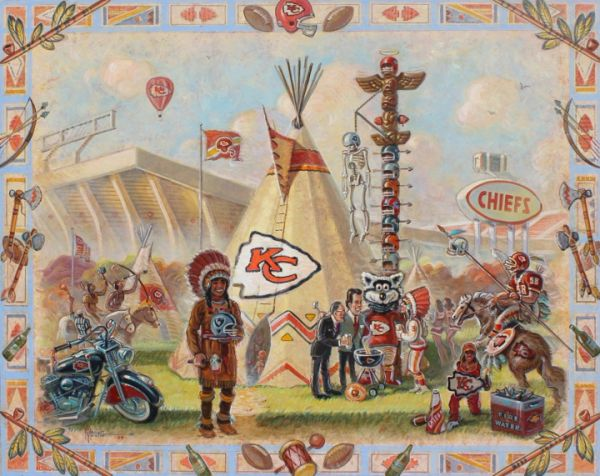 Home Of The Chiefs, The-24x30 Print On Canvas
